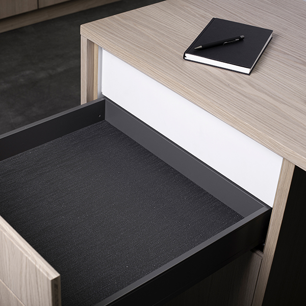 EverydaySafe™ closed and concealed in an office desk