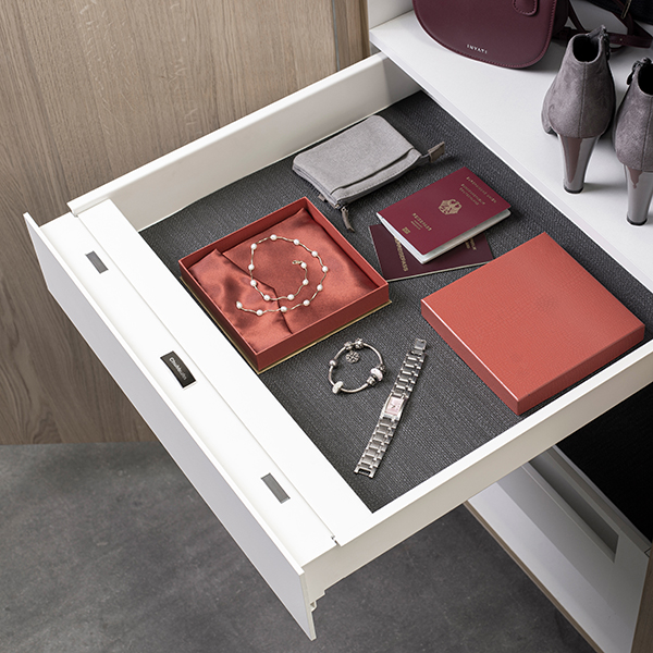 EverydaySafe™ open and easily accessible in a wardrobe